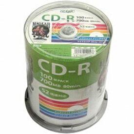 磁気研究所 Magnetic Laboratories HDCR80GP100 データ用CD-R Hi-Disc ホワイト [100枚 /700MB /インクジェットプリンター対応]