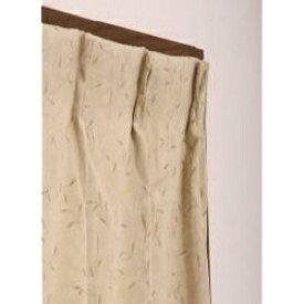 東京シンコール TOKYO SINCOL ドレープカーテン プチリーフ(200×178cm/ベージュ)[902058]
