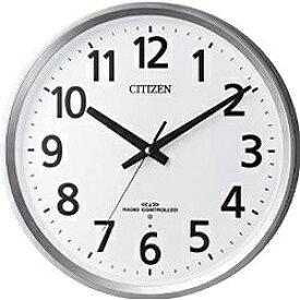 シチズン CITIZEN 掛け時計 【パルウェーブM475】 シルバーメタリック 8MY475-019 [電波自動受信機能有][8MY475019]