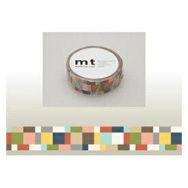 カモ井加工紙 KAMOI mt マスキングテープ(モザイク・グレイッシュ) MT01D177