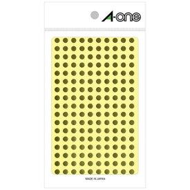 エーワン A-one カラーラベル 金 07071 [6シート /180面 /光沢]【aoneC2009】