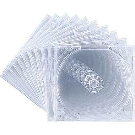 サンワサプライ SANWA SUPPLY Blu-ray/DVD/CD対応収納ケース 1枚収納×10 クリア FCD-PN10C[FCDPN10C]