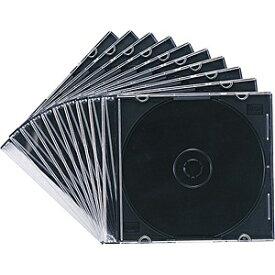 サンワサプライ SANWA SUPPLY Blu-ray/DVD/CD対応スリム収納ケース 1枚収納×10 マットブラック FCD-PU10MBK[FCDPU10MBK]