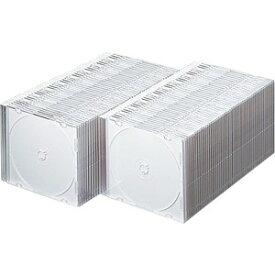 サンワサプライ SANWA SUPPLY Blu-ray/DVD/CD対応スリム収納ケース 1枚収納×100 マットホワイト FCD-PU100MW[FCDPU100MW]【rb_pcp】