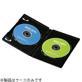 サンワサプライ SANWA SUPPLY Blu-ray/DVD/CD対応トールケース 2枚収納×10 ブラック DVD-TN2-10BK[DVDTN210BK]