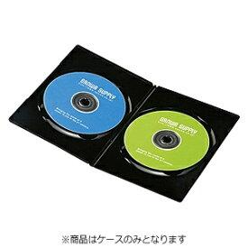サンワサプライ SANWA SUPPLY Blu-ray/DVD/CD対応スリムトールケース 2枚収納×10 ブラック DVD-TU2-10BK[DVDTU210BK]