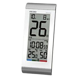 セイコー SEIKO 掛け置き兼用時計 銀色メタリック SQ431S [電波自動受信機能有]