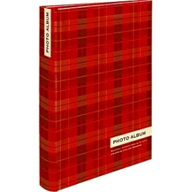 ナカバヤシ Nakabayashi 背丸ブック式ポケットアルバム 「スタンダードチェック」 (L判3段ポケット/レッド) BPL-240-3-R[BPL2403R]