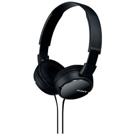 ソニー SONY ヘッドホン MDR-ZX110 ブラック [φ3.5mm ミニプラグ][MDRZX110B]