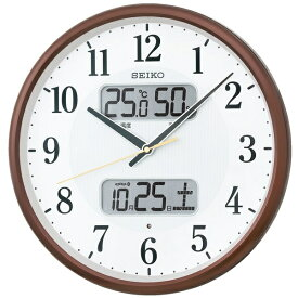 セイコー SEIKO 掛け時計 【スタンダード】 茶メタリック KX383B [電波自動受信機能有][KX383B]