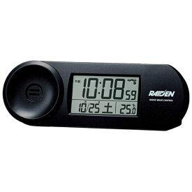 セイコー SEIKO 目覚まし時計 【RAIDEN(ライデン)】 黒メタリック NR532K [デジタル /電波自動受信機能有]