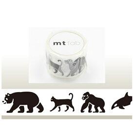 カモ井加工紙 KAMOI mt マスキングテープ mt fabスクリーン(黒い動物) MTSC1P04