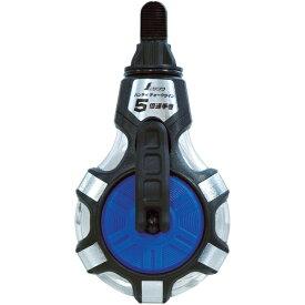 シンワ測定 チョークライン 5倍速手巻粉付3倍太糸ブルー 77560