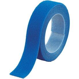 トラスコ中山 マジックバンド結束テープ 両面 幅20mmX長さ1.5m 青 MKT2015B