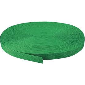 トラスコ中山 PPベルト幅30mmX長さ20m 緑 PPB3020