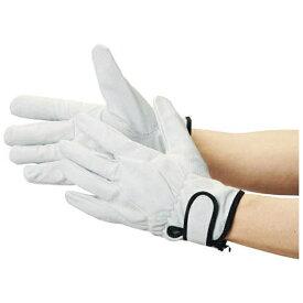 トラスコ中山 豚革裏地付マジック止手袋 LLサイズ TYK717LL