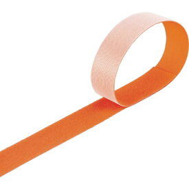 トラスコ中山 マジックバンド結束テープ 両面 幅40mmX長さ30m オレンジ MKT40WOR