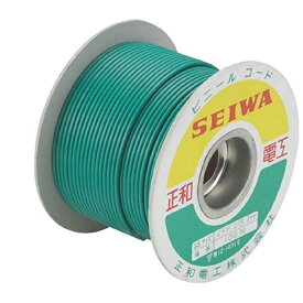 正和電工 Seiwa Denko アースコード VSFコード 100m ドラム巻 SF100CD