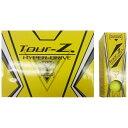 朝日ゴルフ用品 ASAHI GOLF 【ビックカメラグループオリジナル】【公認球】ゴルフボール Tour-Z. HYPER-DRIVE -TYPE- Y《1ダース(12球/イエロー)》TZHD-BC1