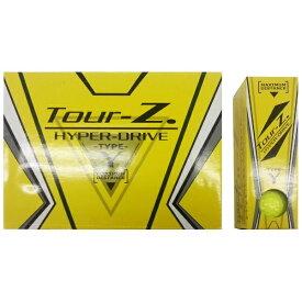朝日ゴルフ用品 ASAHI GOLF 【ビックカメラグループオリジナル】ゴルフボール Tour-Z. HYPER-DRIVE -TYPE- Y イエロー TZHDBC1408 [12球(1ダース) /ディスタンス系][TZHDBC1408]