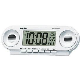 セイコー SEIKO 目覚まし時計 【RAIDEN(ライデン)】 白パール NR531W [デジタル /電波自動受信機能有][NR531W]