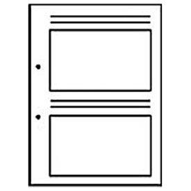 チクマ Chikuma 新フォトス20S・プリントアルバムF-1用替台紙 (EL判・40枚収納) 05058-2[プリントアルバムスペア]