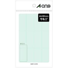 エーワン A-one 透明保護ラベル 透明 08379 [はがき /8シート /12面 /光沢]【aoneC2009】