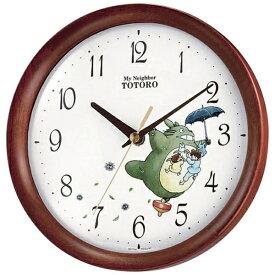 リズム時計 RHYTHM キャラクター掛け時計 トトロM27 茶色半艶仕上 8MGA27RH06[8MGA27RH06]