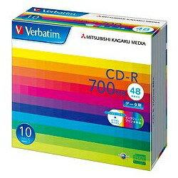 三菱化学メディア 48倍速対応 データ用CD-Rメディア 高耐久AZO色素採用 (700MB・10枚) SR80SP10V1