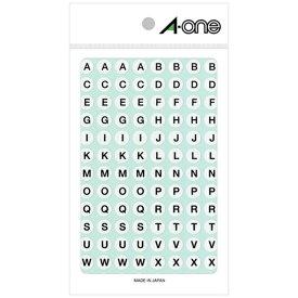エーワン A-one 特殊ラベル アルファベット 白 08090 [4シート /光沢]