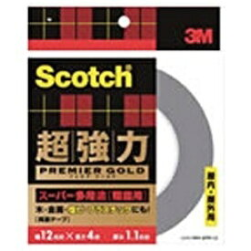 3Mジャパン スリーエムジャパン スコッチ 超強力両面テープ プレミアゴールド(スーパー多用途) 粗面用 SPR-12[SPR12]