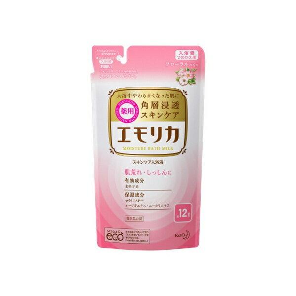 花王 Kao emollica(エモリカ) 薬用スキンケア入浴液 フローラルの香り つめかえ用 360ml 〔入浴剤〕