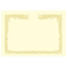 ササガワ SASAGAWA OA賞状用紙 雲なし 縦書き用 (A3・100枚) クリーム 10-1487[101487]