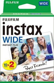富士フイルム FUJIFILM チェキ インスタントフィルム カラー instax WIDE [10枚 /2パック][INSTAXWIDEWW2]