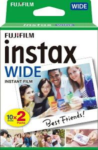 富士フイルム FUJIFILM チェキ インスタントフィルム カラー instax WIDE ホワイト [10枚 /2パック][INSTAXWIDEWW2]