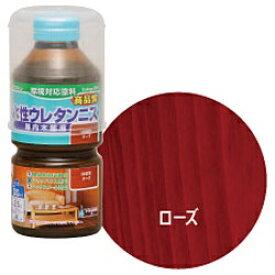 ニッペホームプロダクツ NIPPONPAINT 【ワシンペイント】 W水性ウレタンニス(ローズ) 300ml