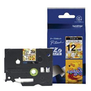 ピータッチ ディズニーキャラクターテープ プーさんホワイトラベル TZe-DW31 [黒文字 12mm×5m]
