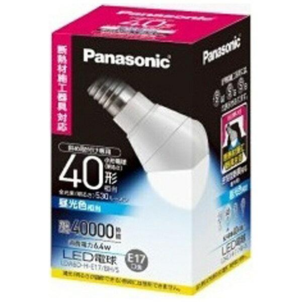 パナソニック 斜め取付け専用LED電球 (小形電球形[斜め取付け専用・断熱材施工器具対応タイプ]・全光束530lm/昼光色相当・口金E17) LDA6D-H-E17/BH/S[LDA6DHE17BHS]