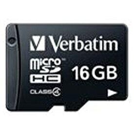 三菱ケミカルメディア MITSUBISHI CHEMICAL MEDIA microSDHCカード Verbatim(バーベイタム) MHCN16GYVZ1 [16GB /Class4][MHCN16GYVZ1]
