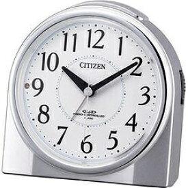 シチズン CITIZEN 目覚まし時計 【ネムリーナリング】 シルバーメタリック 4RL432-019 [アナログ /電波自動受信機能有][4RL432019]