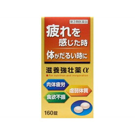 【第3類医薬品】 滋養強壮薬α(160錠)〔ビタミン剤〕【wtmedi】皇漢堂製薬