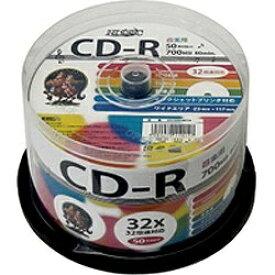 磁気研究所 Magnetic Laboratories HDCR80GMP50 データ用CD-R Hi-Disc ホワイト [50枚 /700MB /インクジェットプリンター対応]
