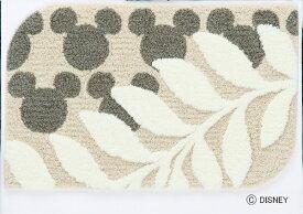 スミノエ SUMINOE 玄関マット ミッキー/ローレル(50×80cm/ベージュ)【日本製】[DMM402650X80]