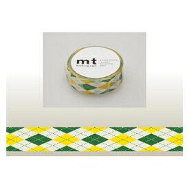 カモ井加工紙 KAMOI mt マスキングテープ(アーガイル・グリーン) MT01D163