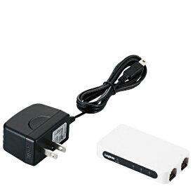ロジテック Logitec スイッチングハブ(3ポート・USB給電/ACアダプタ)超小型モデル(ホワイト) LAN-SW03PSWE[LANSW03PSWE]