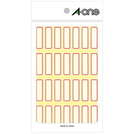エーワン A-one セルフラベル 赤枠 03002 [18シート /28面 /マット]【rb_mmmg】