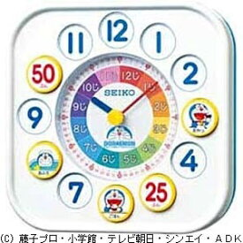 セイコー SEIKO 置掛兼用時計 ドラえもん 白 CQ319W