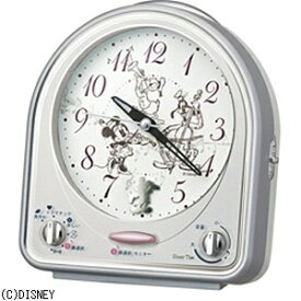 セイコー SEIKO 目覚まし時計 ミッキー&フレンズ 銀色メタリック FD464S [アナログ]