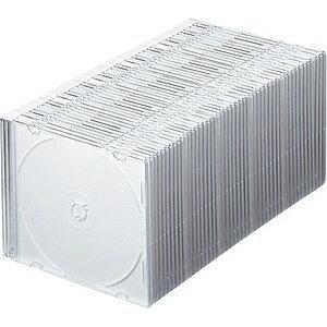 サンワサプライ CD/DVD/Blu-ray対応収納ケース (1枚収納×50セット・マットホワイト) FCD-PU50MW[FCDPU50MW]