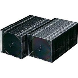サンワサプライ SANWA SUPPLY Blu-ray/DVD/CD対応スリム収納ケース 1枚収納×100 マットブラック FCD-PU100MBK[FCDPU100MBK]